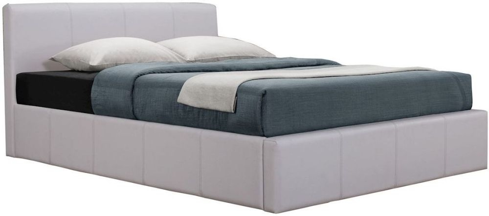 Birlea Signature White Faux Leather Bed