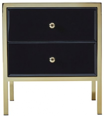 Birlea Fenwick Bedside Cabinet - Black and Gold