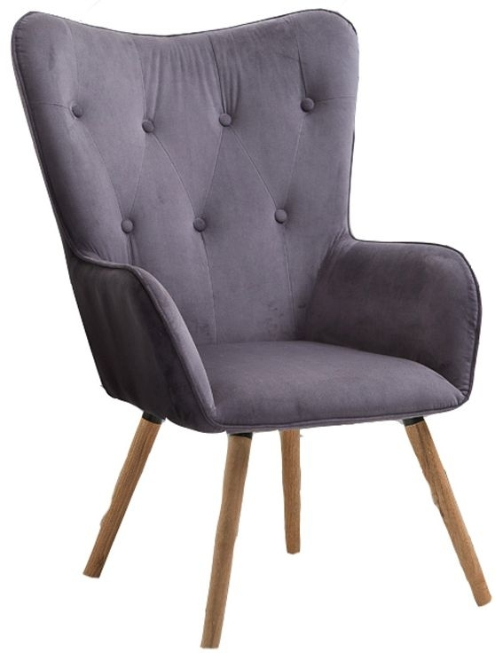 Birlea Grey Velvet Willow Armchair