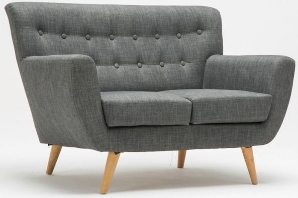 Birlea Loft Grey 2 Seater Fabric Sofa
