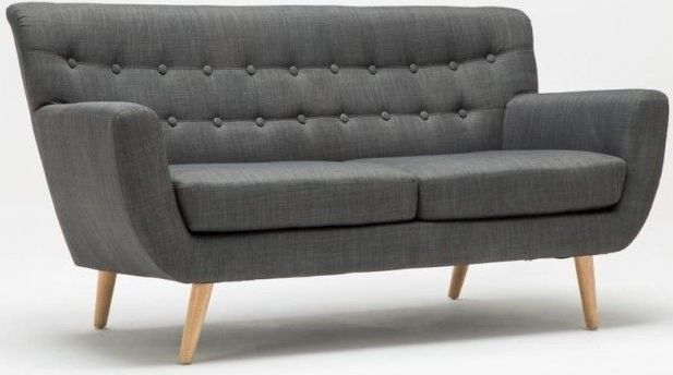 Birlea Loft Grey 3 Seater Fabric Sofa