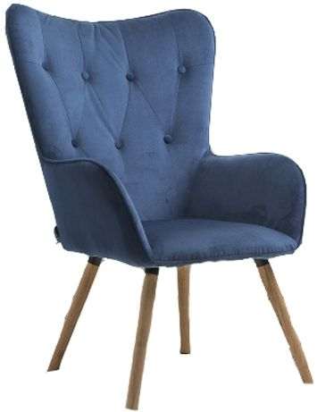 Birlea Midnight Blue Willow Armchair