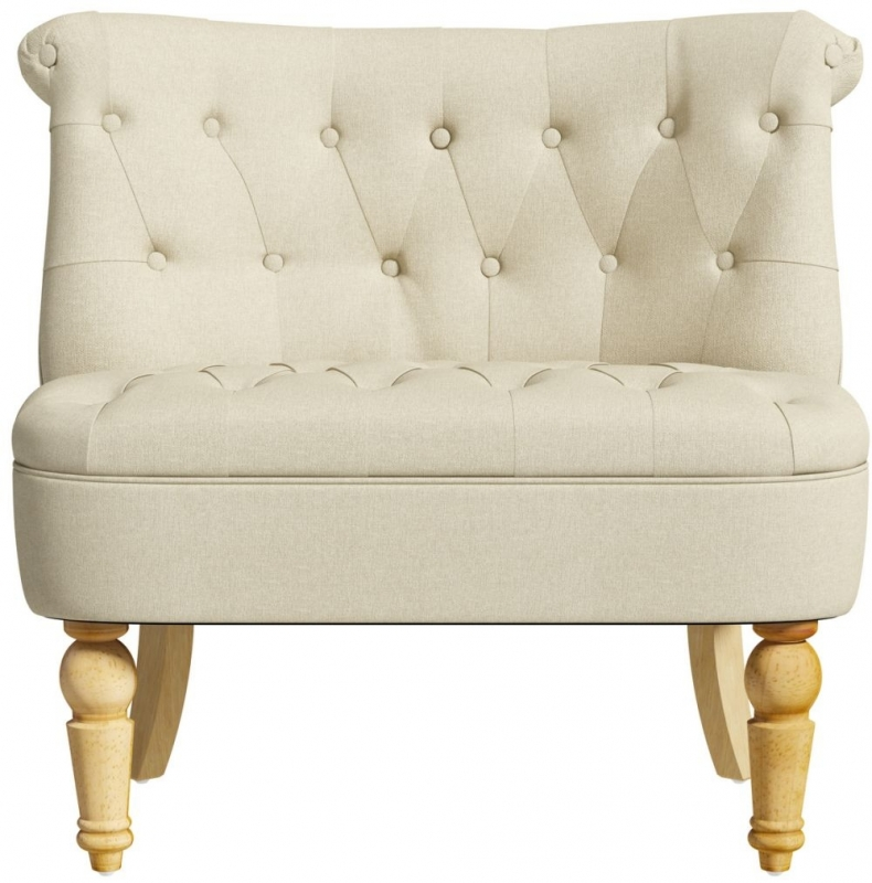 Birlea Grace Arran Beige Velvet Snuggle Tub Chair