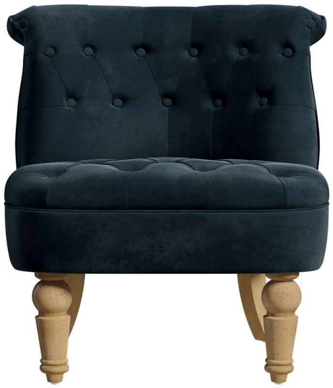 Birlea Grace Midnight Blue Velvet Snuggle Tub Chair