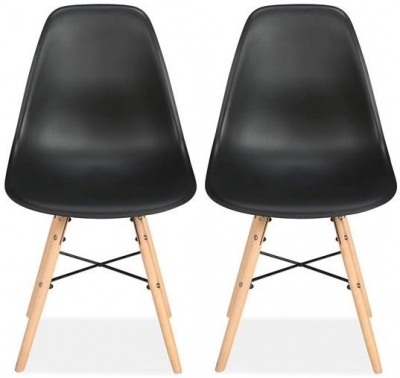 Birlea Hex Black Dining Chair (Pair)