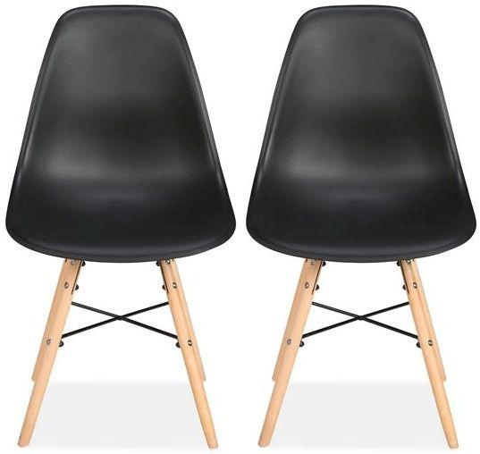 Birlea Hex Black Dining Chair (Pair)
