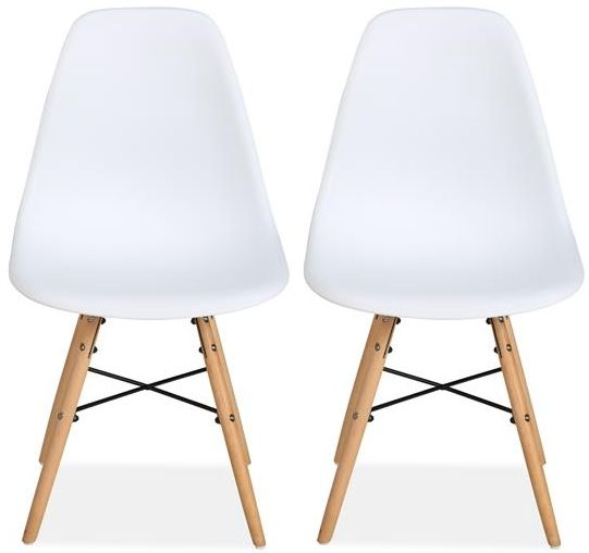 Birlea Hex White Dining Chair (Pair)