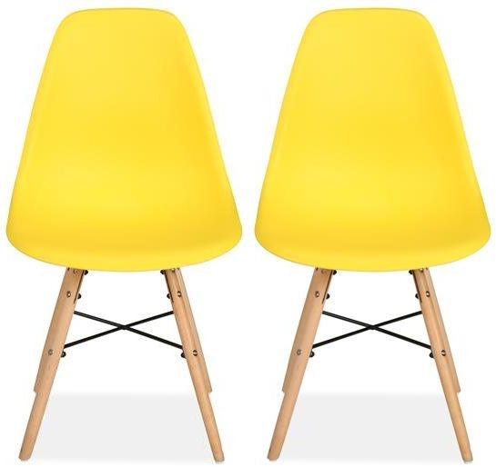 Birlea Hex Yellow Dining Chair (Pair)