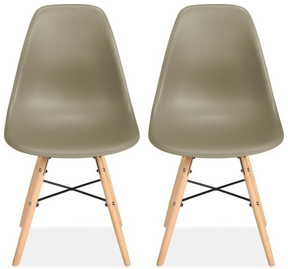 Birlea Hex Putty Dining Chair (Pair)