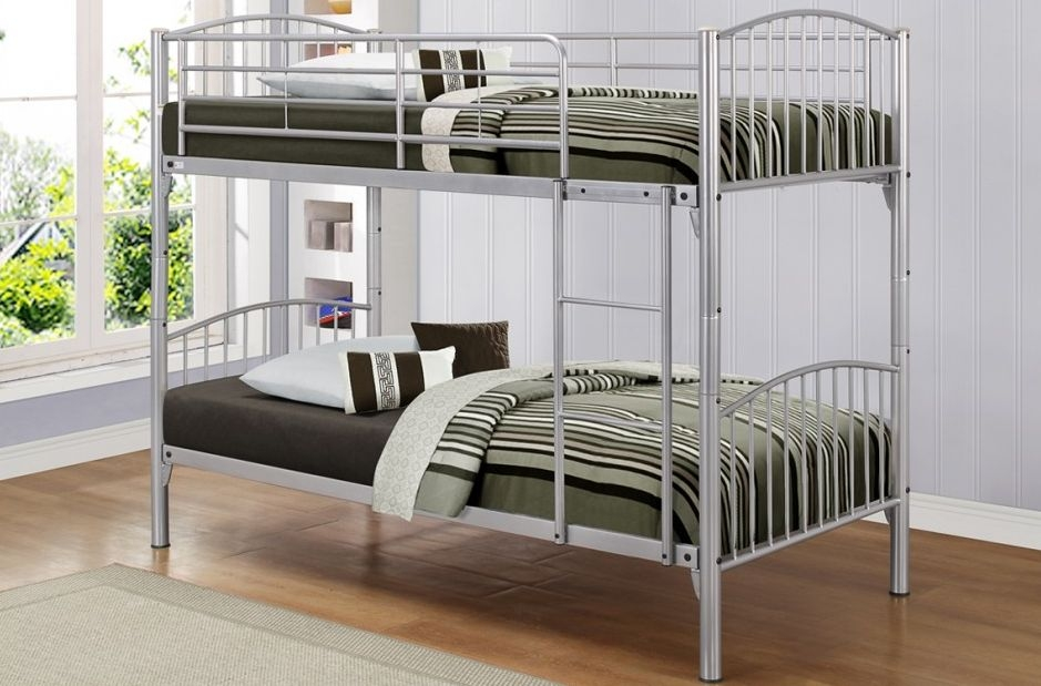 Birlea Corfu Silver Metal Bunk Bed