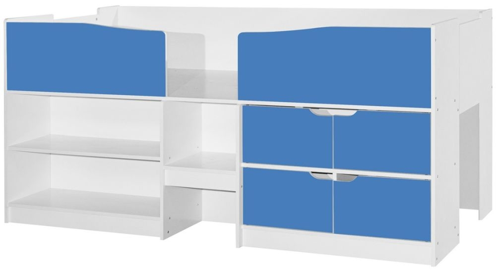 Birlea Merlin 3ft Cabin Bed - White and Blue