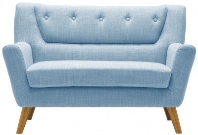 Birlea Lambeth Duck Egg Blue Fabric 2 Seater Sofa