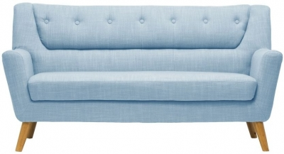 Birlea Lambeth Duck Egg Blue Fabric 3 Seater Sofa