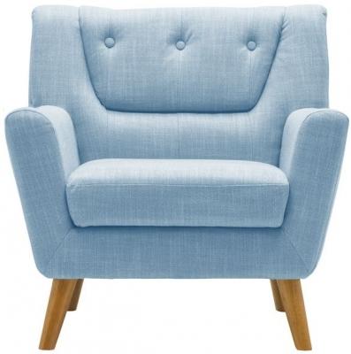 Birlea Lambeth Duck Egg Blue Fabric Armchair