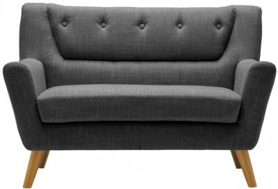 Birlea Lambeth Grey Fabric 2 Seater Sofa