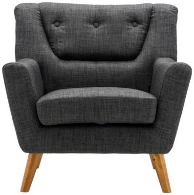 Birlea Lambeth Grey Fabric Armchair