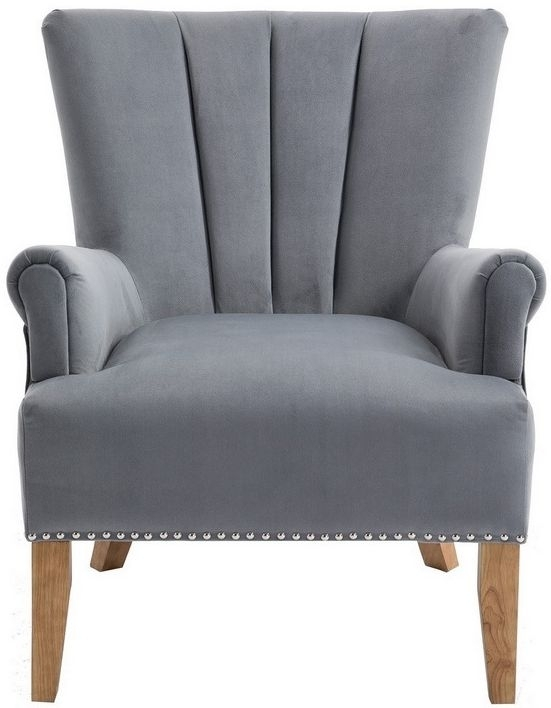 Birlea Flinn Grey Fabric Armchair