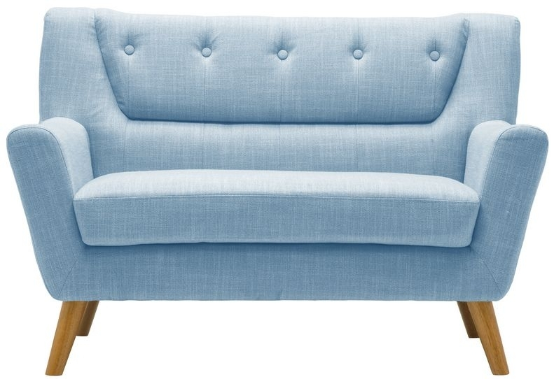 Birlea Lambeth Duck Egg Blue Fabric 2 Seater Sofa