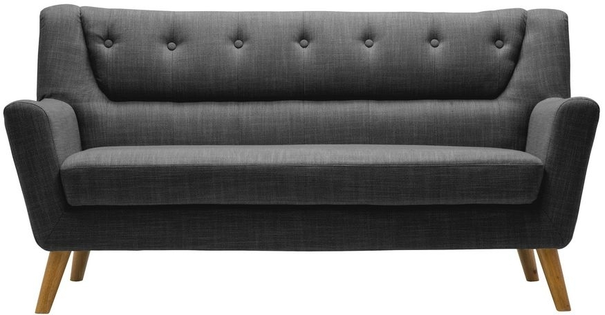 Birlea Lambeth Grey Fabric 3 Seater Sofa