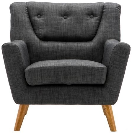 Birlea Lambeth Grey Fabric Armchair