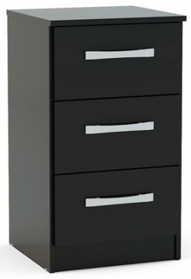 Birlea Lynx Black Bedside Cabinet