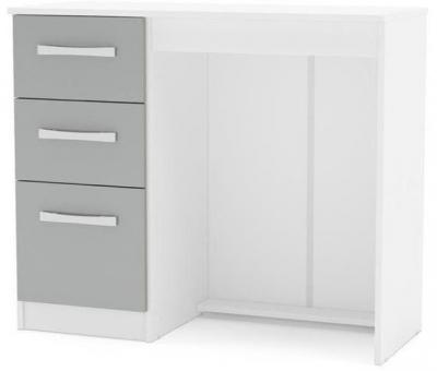 Birlea Lynx Dressing Table - White and Grey