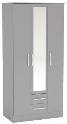 Birlea Lynx Grey 3 Door Combi Wardrobe