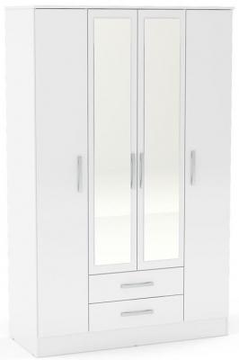 Birlea Lynx White 4 Door Combi Wardrobe