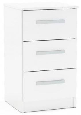 Birlea Lynx White Bedside Cabinet