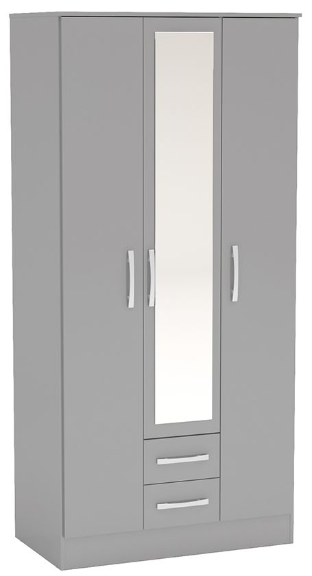 Birlea Lynx Grey 3 Door Combi Wardrobe