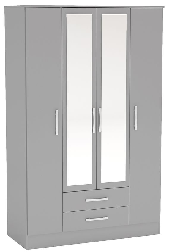 Birlea Lynx Grey 4 Door Combi Wardrobe