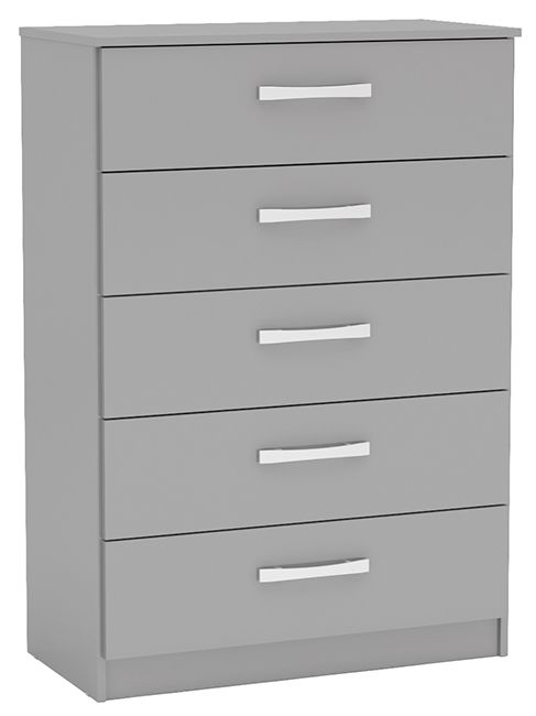 Birlea Lynx Grey 5 Drawer Medium Chest