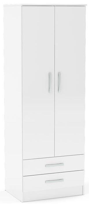 Birlea Lynx White 2 Door 2 Drawer Wardrobe