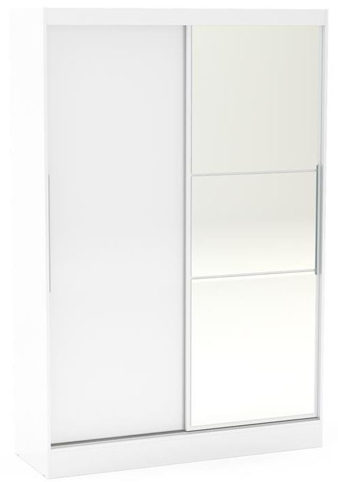 Birlea Lynx White 2 Door Sliding Mirror Wardrobe