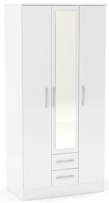 Birlea Lynx White 3 Door Combi Wardrobe