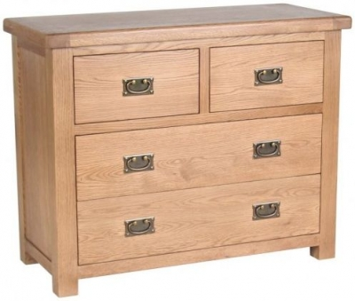 Birlea Malvern Oak Chest of Drawer - 2+2 Drawer