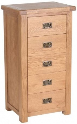 Birlea Malvern Oak Chest of Drawer - 5 Drawer