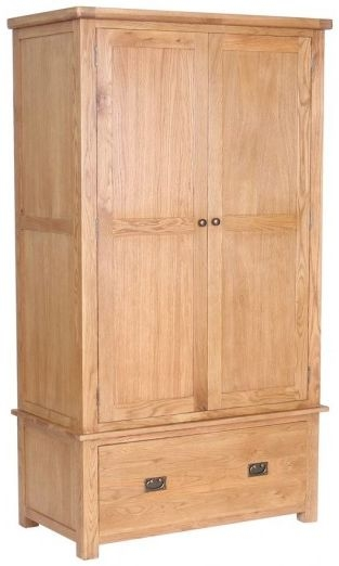 Birlea Malvern Oak Wardrobe - 2 Door 1 Drawer
