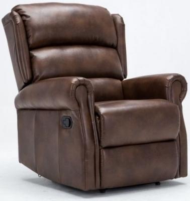 Birlea Manhattan Bronze Brown Faux Leather Recliner Chair