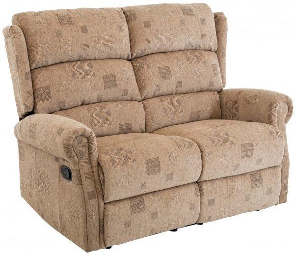 Birlea Manhattan Wheat 2 Seater Recliner Settee Fabric Sofa