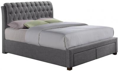 Birlea Valentino Grey Fabric Bed