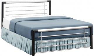 Birlea Faro Black and Silver Metal Bed