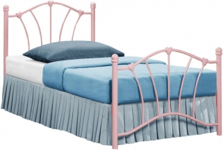 Birlea Sophia 3ft Pink Metal Bed