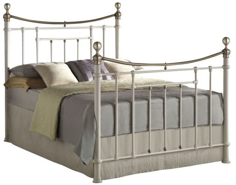 Birlea Bronte 5ft King Size Cream Metal Bed