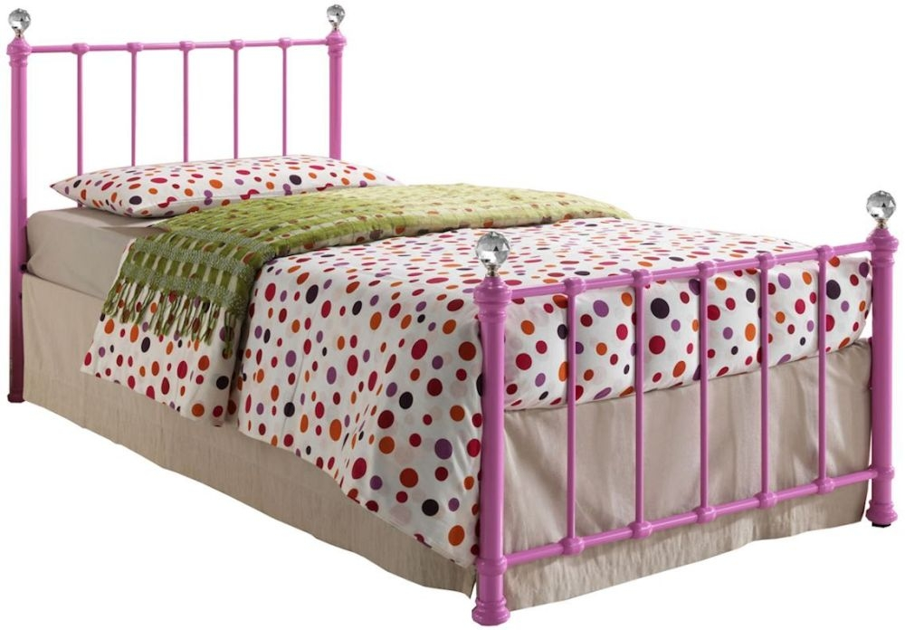Birlea Jessica Pink Metal Bed - 3ft Single