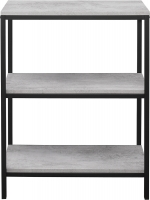 Birlea Midtown Grey Bookcase with Metal Frame
