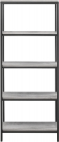 Birlea Midtown Grey Tall Bookcase with Metal Frame