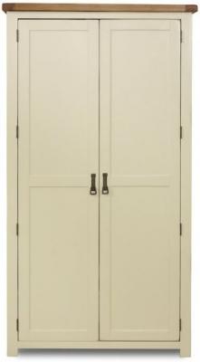 Birlea New Hampshire Cream and Oak Wardrobe - 2 Door
