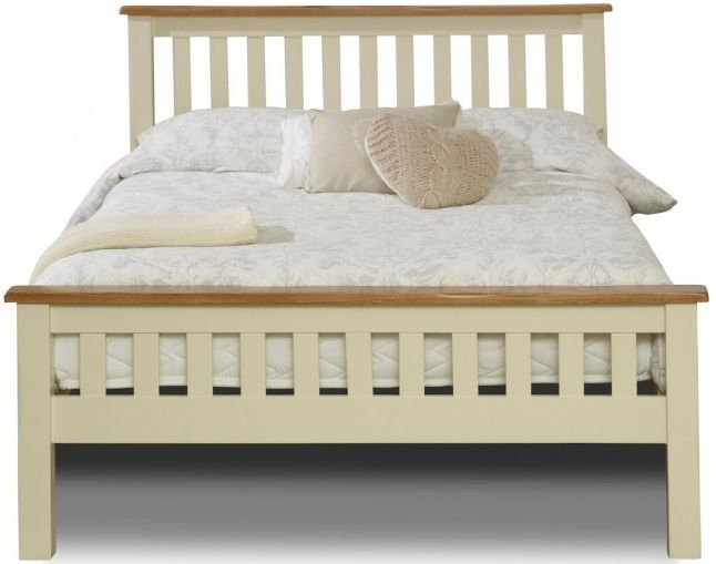 Birlea New Hampshire Cream and Oak Bed - High Foot End