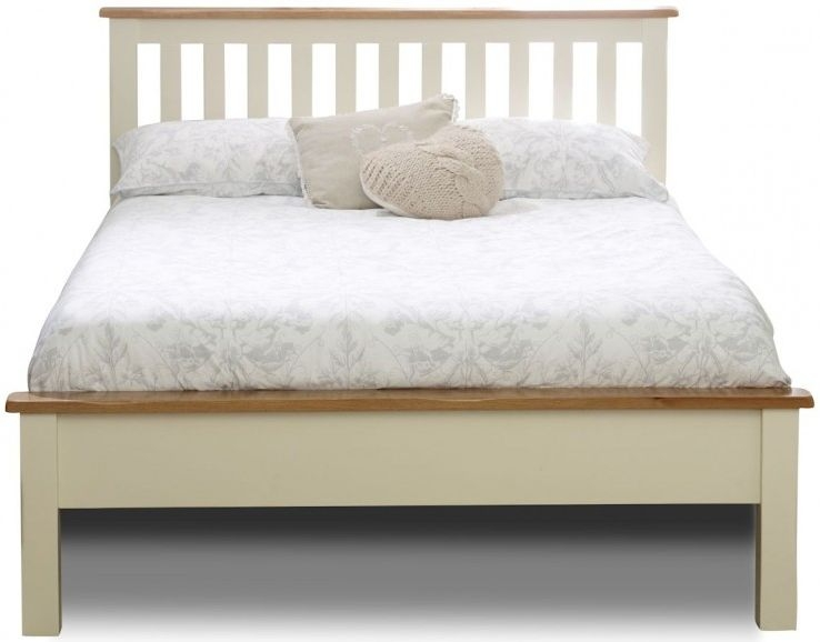 Birlea New Hampshire Cream and Oak Bed - Low Foot End